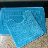 Noir Gris Bleu Vert Rouge Brun Jacquarded Cut Élevée Faible Pieu de boucle en polypropylène de couleur unie Jacquard Tapis Tapis Tapis de Bain toilettes douche salle de bain