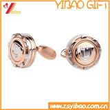 Kundenspezifischer silberner Form-Manschettenknopf für förderndes Geschenk (YB-cUL-03)