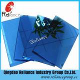 Verre teinté bleu / Bâtiment commercial en verre réfléchissant bleu