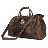 Design personalizado de boa qualidade em pele de crocodilo Marrom Retro Doctor bag bolsa de viagem
