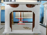 Home Decoration를 위한 새겨진 White Marble Fireplace
