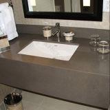 ブラウンカラー人工的な水晶石の浴室の虚栄心の上