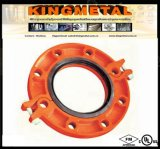 """3 """" FM/UL Grooved Coupling Casting Iron Hinged Flange Adapter"""