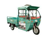 tricycles hybrides de cargaison de moteur de l'essence 150cc avec la cloche