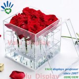 方法アクリルのつぼ9の穴のローズの花のディスプレイ・ケース