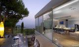 Puerta de vidrio de desplazamiento del balcón de la buena calidad