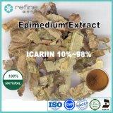 角質のヤギWeedかEpimedium、Epimediumのエキス、Icariin 98%のEpimediumのエキスの粉