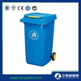 240L HDPE van de Container van het afval de Openlucht Beweegbare Plastic Bak van 2 Wiel