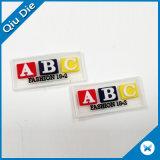 주문 3D 편지 가죽 레이블에 의하여 돋을새김되는 PVC Patchfor 벨트 또는 의복 수선