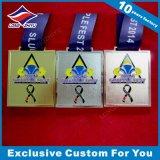 Kundenspezifische Decklack-Medaille mit Vergoldung-Effekt-Preis-Medaillon
