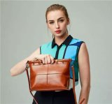 Classic Pure Oil Wax Couro Mulher Couro Messenger Bag