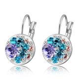 De blauwe Oorring van de Juwelen van het Ontwerp van de Klem van de Oorring van de Legering van het Kristal van het Bergkristal