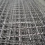 ステンレス鋼の装飾的で平らなひだを付けられた金網