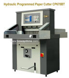 De op zwaar werk berekende Industriële Hydraulische & Programma's Gecontroleerde Elektrische Scherpe Machine van de Snijder van het Document van de Guillotine