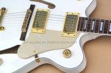 Guitare électrique de musique de Hanhai/jazz blanc avec le système de Tremolo