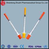 Ce/seringa descartável certificada ISO do Insulin para a injeção