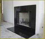 Hot Sale de style anglais pour la cheminée en pierre de granit noir