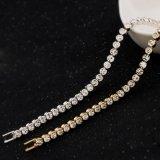 Braccialetto lucido placcato argento dell'a cristallo dell'Austria di fascino di modo