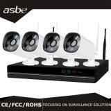jogo da câmara de vigilância NVR da segurança do CCTV do IP de WiFi da bala da disposição 4CH para a HOME