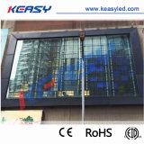 Paroi en verre transparent avec affichage LED haute luminosité pour la publicité