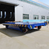 Chariot de transport motorisé par cheminée en bois d'usine de la Roumanie sur des longerons