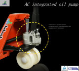 Caminhão de pálete da mão da fábrica 3000kg de China com a bomba de petróleo de 400mm