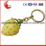 Tipo metal de encargo del metal de la aleación de la venta al por mayor que gira Keychain