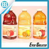 Het in het groot Waterdichte Etiket van de Fles van het Fruit van het Sap van pvc Verpakkende