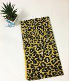 écharpe de mode d'impression de léopard de jaune de la voile 100%Cotton longue