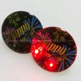 로고를 가진 주문 라운드 LED 섬광 Pin는 인쇄했다 (3161)