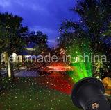 Piscando a mostra vermelha e verde da estrela do projetor de luzes do Natal do laser para decorações sazonais internas ao ar livre do Natal do festival do feriado Waterproof lasers