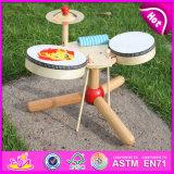 4 em 1 Brinquedo das Crianças do Tambor de Madeira para Idade 3 + (W07A040)