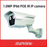 Camera van de Veiligheid van kabeltelevisie van het Netwerk van de Kogel van het toezicht 1.0MP IP Poe IRL de Waterdichte