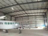 Capannone prefabbricato dei velivoli della struttura d'acciaio nell'esercito del Niger