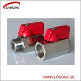Válvula de bola Mini Sanitaria de acero inoxidable roscado