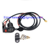 12-24V Dual USB Charge Socket met Switch voor Car Motorcycle Motorbike