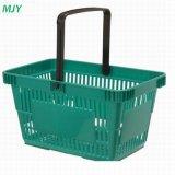 20 Litros mão de plástico de supermercado cesto de compras Mjy-Tb04