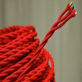 Fil Twisted électrique tressé de tissu de noyau pourpre du fil 2