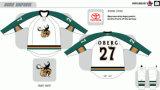 Ha personalizzato tutti i nome e hokey di ghiaccio americano delle alci 2007-2016 della Manitoba della Lega di Hockey dei capretti delle donne degli uomini di no. Jersey