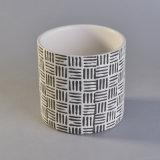 Weave branco frasco modelado da cerâmica da vela com Capacity&#160 popular;