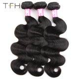 9Um corpo peruano pacotes de onda 100% virgem de cabelo humano tecem Bundles Cor Natural no emaranhado sem derramamento (TFH18)