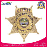 Divisa por encargo del sheriff del metal del oro