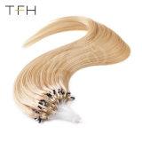 """Cabelos lisos moda superior 14""""16""""18""""20""""22""""24""""Loop micro esferas de anel de gorjeta Remy Extensões de cabelo humano 1G/S extensões de cabelo de loop de cabelo humano"""