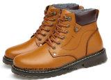 Обувь из натуральной кожи для мужчин водонепроницаемая обувь рабочая безопасности снег чехлы (996)
