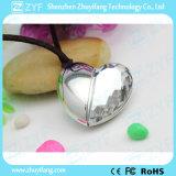 銀製の中心の吊り下げ式の形のアクリルの宝石類USBのペン駆動機構(ZYF1907)
