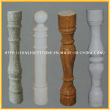 Pedra natural vermelho/cinza/branco pedra mármore granito balaustrada para Handrall