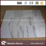 Mattonelle di marmo bianche cinesi poco costose di Guangxi per il pavimento e la parete