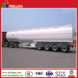 46000liters Öltanker-LKW-halb Schlussteil-Stahlmetallkraftstofftank