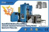 Le conteneur de papier d'aluminium faisant la glissière de machine règlent