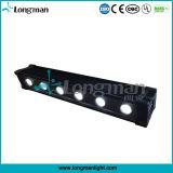 단계를 위한 높은 루멘 6X12W Rgbawuv LED 벽 세척 빛